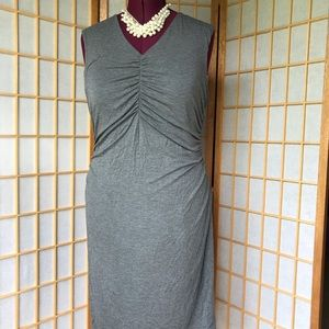 APT 9 SLEEVELESS RUCHED FRONT DRESS GRAY